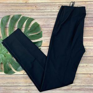 Jil Sander navy blue skinny leg wool tailored pant
